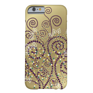Elegant Purple Boho Deco Artistic Spirals Casing Barely There iPhone 6 Case