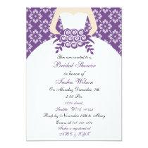 Elegant purple Bridal Shower Invitation