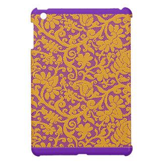 Elegant Purple Brocade Designer iPad Mini Case