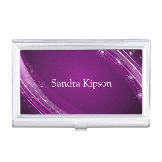 Elegant Purple Business Card Holder