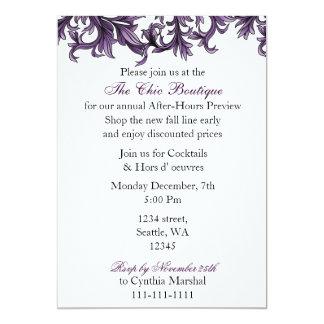 "Elegant purple Business party Invitation 5"" X 7"" Invitation Card"