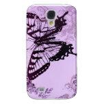 Elegant Purple Butterfly Wedding Shower Galaxy S4 Cases
