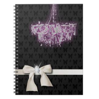 Elegant Purple Chandelier note Book