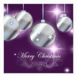 Elegant Purple Christmas Party Invitation