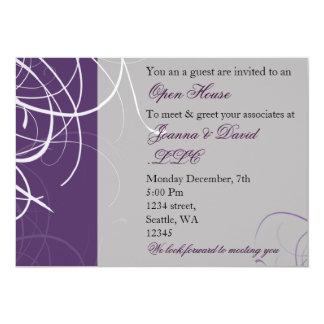 """elegant purple Corporate party Invitation 5"""" X 7"""" Invitation Card"""