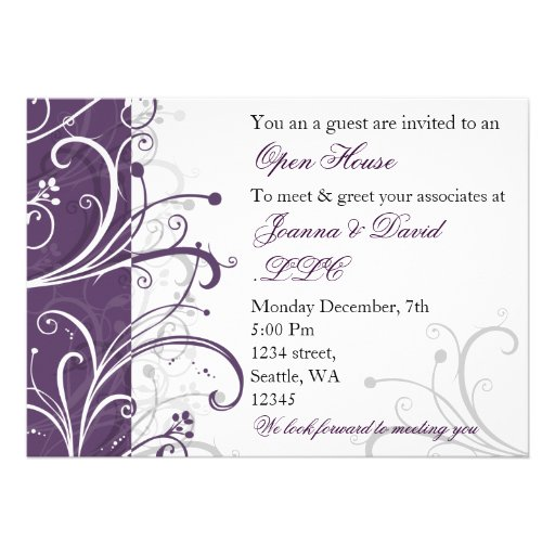 Custom Invitations Announcements And Cards Purple Trail   Party ...