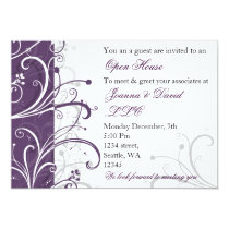 elegant purple Corporate party Invitation