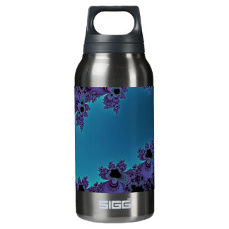 Elegant Purple Cyan Fractal Collection 10 Oz Insulated SIGG Thermos Water Bottle