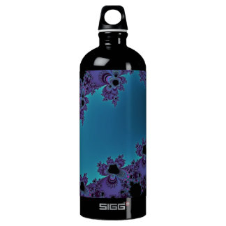 Elegant Purple Cyan Fractal Collection SIGG Traveler 1.0L Water Bottle
