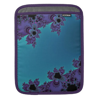 Elegant Purple Cyan Fractal Collection Sleeve For iPads