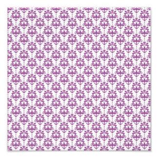 Elegant Purple Damask Pattern Photo Print