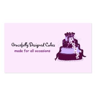 Elegant  Purple Designer Cake Business Card
