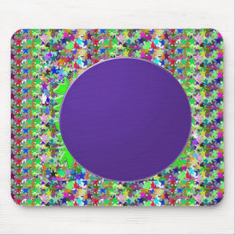 Elegant Purple Disc Template : Add text or image Mouse Pad