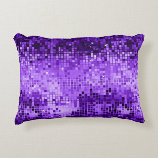 Elegant Purple Disco Ball Glitter & Sparkles Decorative Pillow