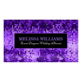 Elegant Purple Disco Glitter Texture Pattern Business Card