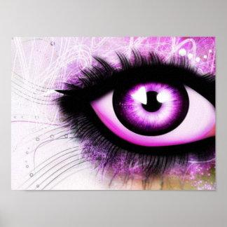 Elegant Purple Eye Poster