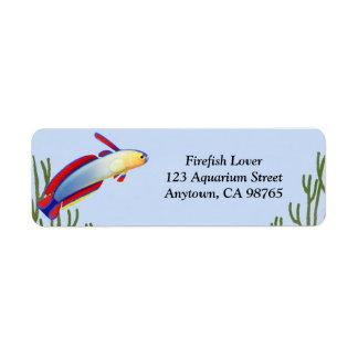 Elegant Purple Firefish Goby Customizable Label