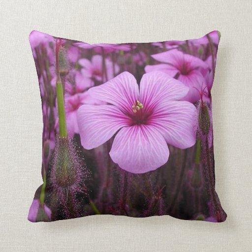 Elegant Purple Floral Fields Pillow