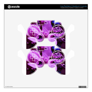 Elegant Purple Floral Fields PS3 Controller Decal