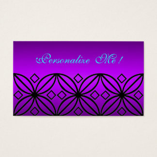Elegant Purple Floral Girly Cute Save the Date Business Card