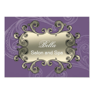elegant purple flourish Business Thank You Cards