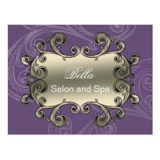 elegant purple flourish business ThankYou Cards
