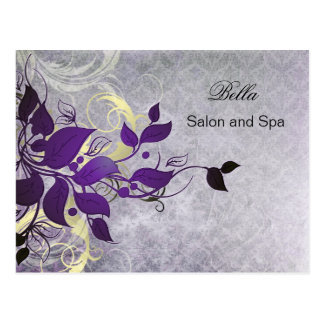 elegant purple flourish business ThankYou Cards Post Cards