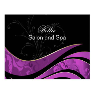 elegant purple flourishbusiness ThankYou Cards Post Cards