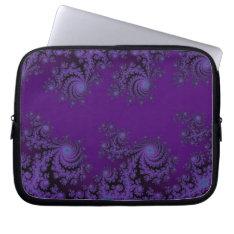Elegant Purple Fractal Lace Computer Sleeve