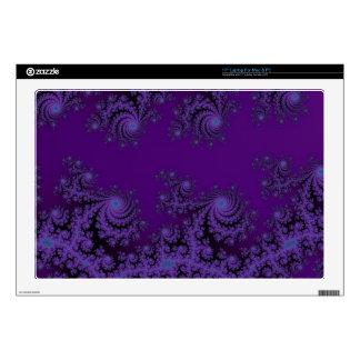 "Elegant Purple Fractal Lace Skins 17"" Laptop Decals"