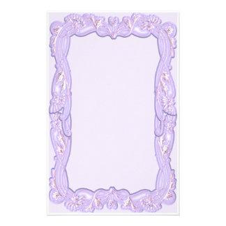 Elegant Purple Framed Stationery