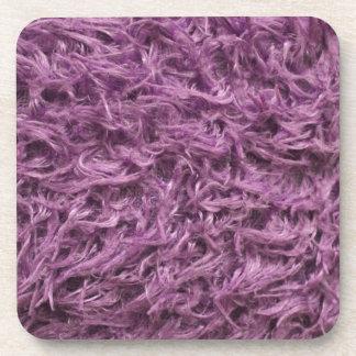 Elegant Purple Fur Drink Coaster