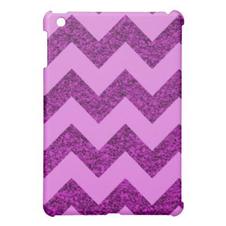 Elegant Purple Glitter Chevron iPad Mini Case