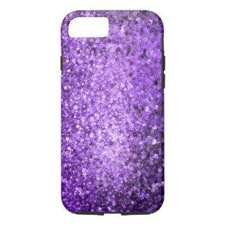 Elegant Purple Glitter & Diamonds iPhone 7 Case