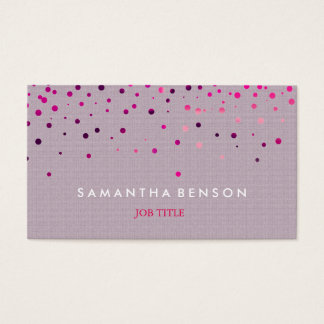 Elegant Purple Glitter Faux Foil Background Business Card