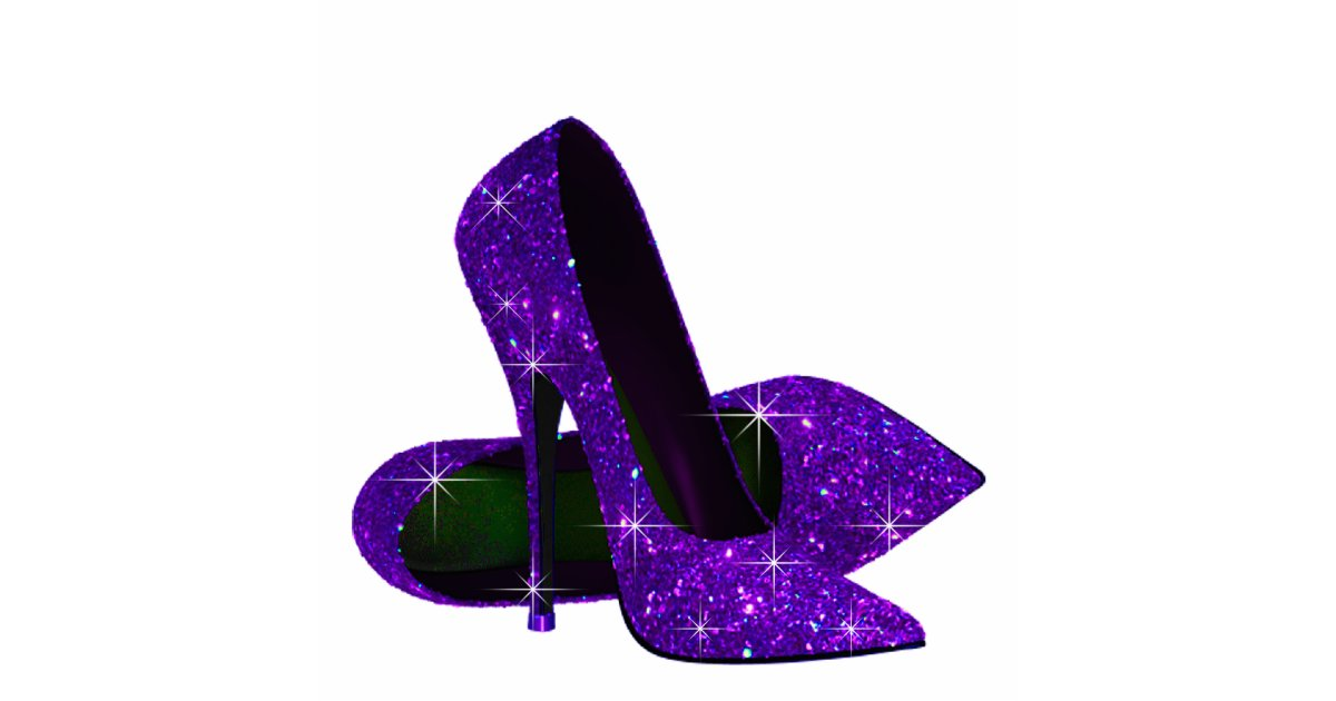 Purple Glitter Baby Shoes