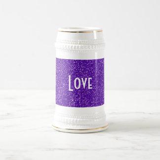 Elegant Purple Glitter Look Texture Beer Stein