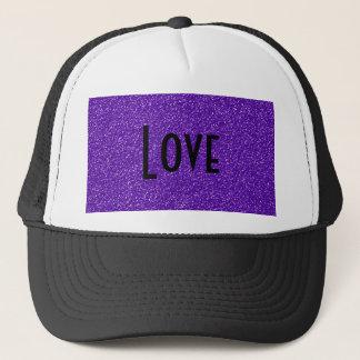 Elegant Purple Glitter Look Texture Trucker Hat