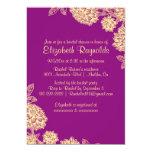 Elegant Purple & Gold Bridal Shower Invitations Custom Announcements