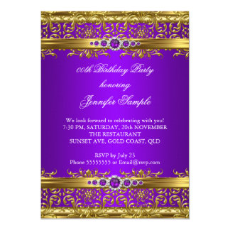 Purple And Gold Birthday Party Invitations Announcements Zazzle - Birthday invitation gold coast