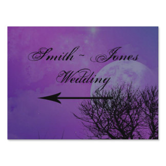 Elegant Purple Gothic Night Posh Direction Sign