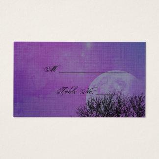 Elegant Purple Gothic Posh Wedding Place Cards