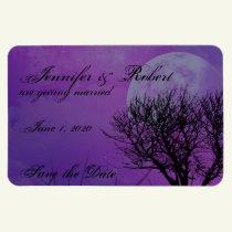 Elegant Purple Gothic Posh Wedding Save the Date Magnet