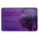 Elegant Purple Gothic Posh Wedding Save the Date Rectangular Photo Magnet