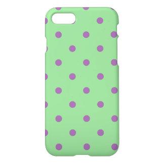 elegant purple green polka dots iPhone 8/7 case