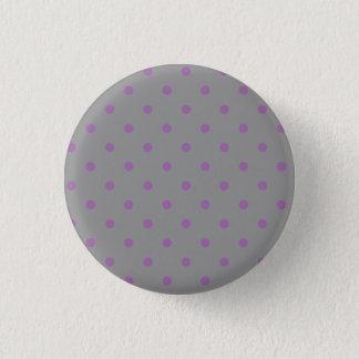 elegant purple grey polka dots pinback button