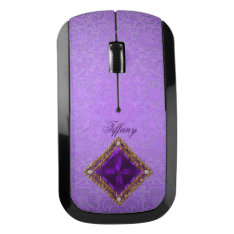 Elegant Purple Jewel Wireless Computer Mouse at Zazzle