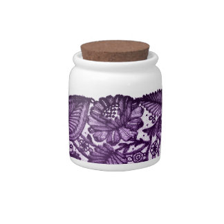 Elegant Purple Lace Candy Jar