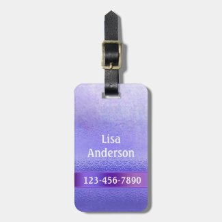 Elegant Purple Lavender Artistic Stripe Luggage Bag Tag