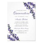 Hand shaped Elegant Purple Lavender Quinceanera Invitation